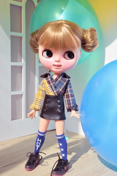 Free shipping high quality Handmade 3pcs/set Shirt +small skirt+socks Doll Clothes for Blythe Azone  Licca Christmas Toys Gift<br>