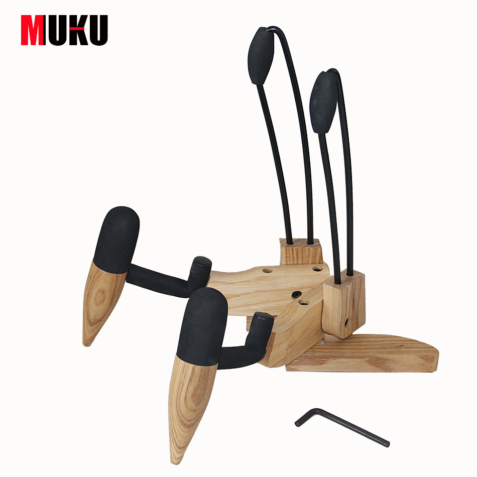 Compact Wood Structure Electric Bass Guitar Stand / Bass Guitar Accessories<br>