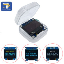 "10PCS/LOT 4pin White and Blue color 0.96 inch 128X64 Yellow Blue OLED Display Module For arduino 0.96"" IIC SPI Communicate(China)"
