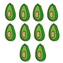 10 pcs Avocado patches badge for clothing iron embroidered patch applique iron sew on patches sewing accessories for DIY clothes