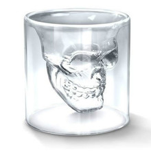 1Pcs 2.75 inch 7cm small Crystal Skull Head Shot Glass Cup hot Special Transparent For Whiskey Wine Vodka Home Drinking Ware