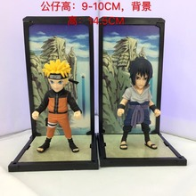 4 inch Naruto Anime Uzumaki & Uchiha Sasuke Buddies Boxed 10cm PVC Action Figure Collection Model Dolls - D-STAR anime store