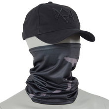 Watch Dogs Cap and Mask Aiden Pearce Cosplay Hat Masks Costume Black Baseball Caps with Adjustable Strap