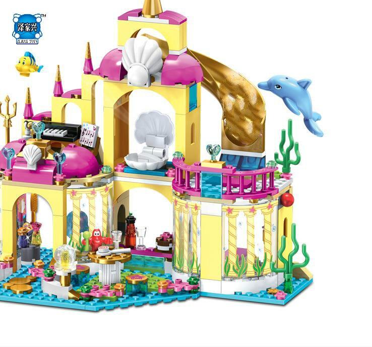 400Pcs Leles Girl Series The Princess Ariels`Undersea Palace Castle Set Building Bricks Bricks Toys Gift Compatible Lepins<br>