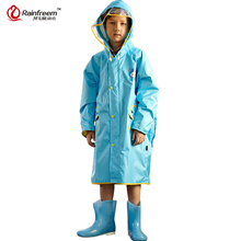 Rainfreem Impermeable Eco-friendly Children Raincoat Healthy Kids Rainwear Light Weight Rain Gear Poncho S-3XL