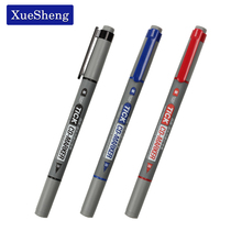 3PCS/lot Twin Tip Permanent Markers Fine Point Black Blue Red Ink Portable Fine Colour Marker Pen CD-197