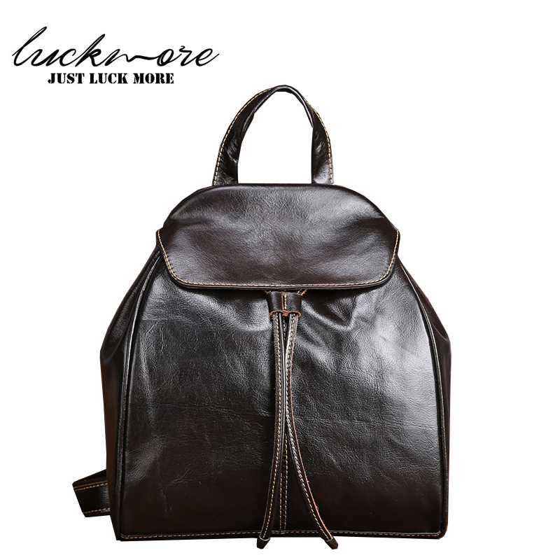 Genuine Leather Women Backpack 2017 Fashion Designer Woman Shoulder Bags Female Bagpack mochila For Teenage Girls High Quality<br>