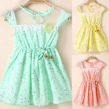 2017 New Fashion Baby Girl Floral Tunic Princess One-Piece Toddler Summer Holiday Dress