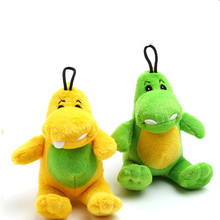 Free shipping squeak pet toys cute little dragon dog training products plush toys 2 color for Chihuahua(China)