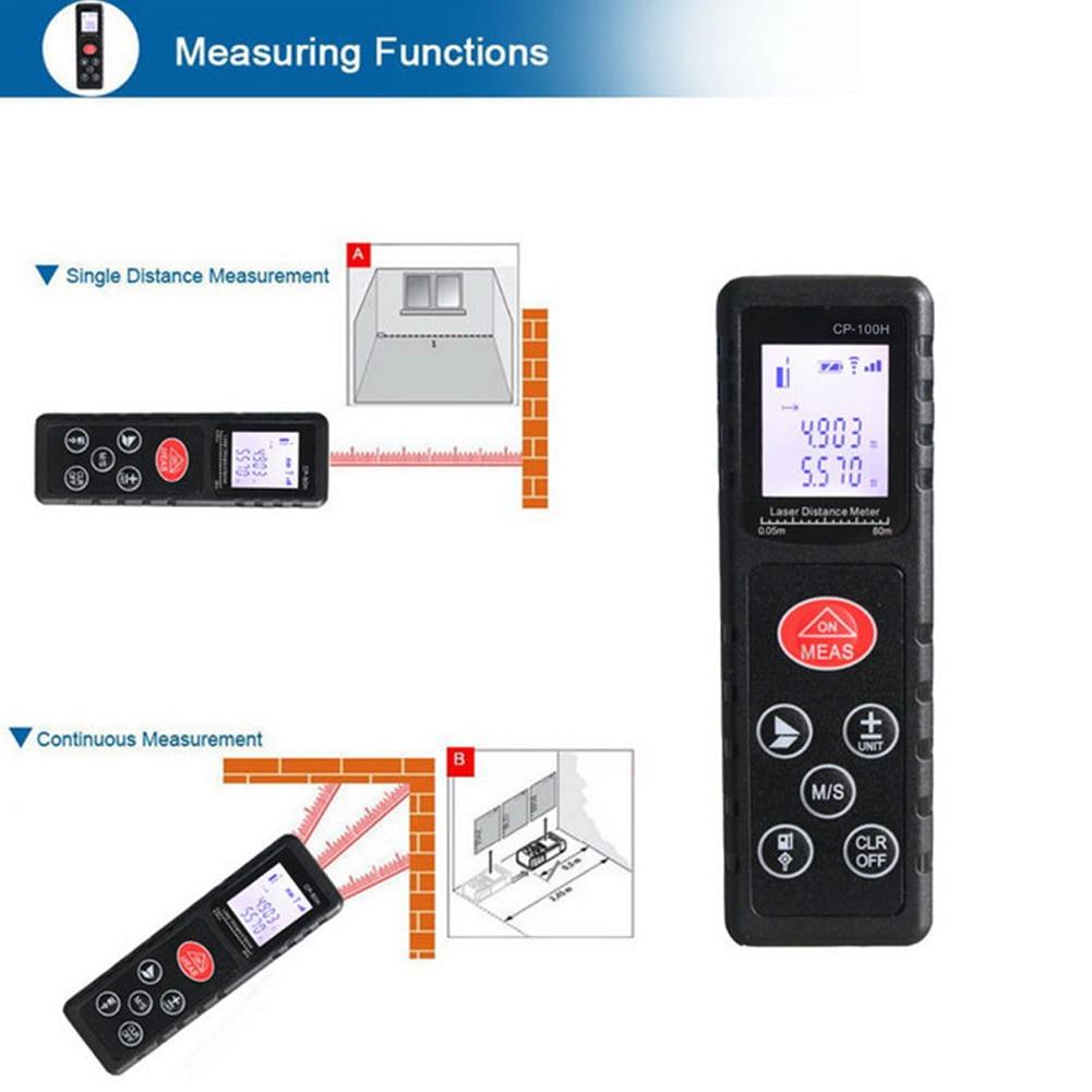 100m/328ft 6-key Handheld Digital Laser Distance Meter 635nm Lazer Range Finder Optical Diastimeter Distance Tester<br>
