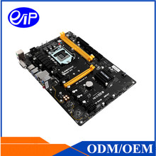 Mining motherboard Intel LGA1151 6 graphics Skylake and Kaby lake GPU/ASIC card B250 DDR4 ATX motherboard Price mainboard(China)