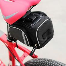 Buy Road Bike Bag MTB Mountain Bicycle Seat Post Saddle Bag Cycling Waterproof Seat Tail Pouch Rear Package Black for $11.54 in AliExpress store
