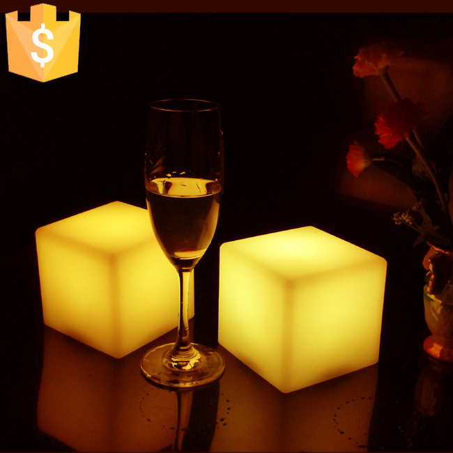 Multi Color novelty 13cm*13cm*13cm atmosphere PE Square Cube led cube light illuminated night light CE/FCC/RoHS approved 4pcs<br>