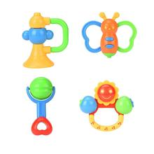 4PC Baby Rattles Teether Ball Shaker Grab And Spin Rattle Musical Toy Gift Y1102(China)