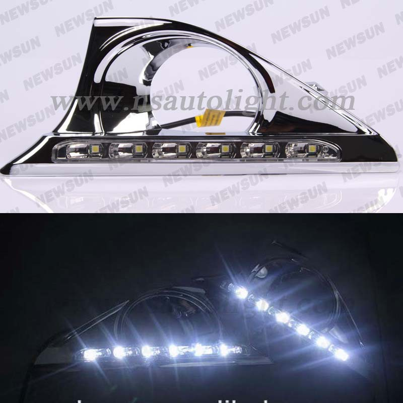 Super Bright for Camry LED Daytime Running Lights, 12V 6000K white led drl daylights fog lamp 6W with 6 5050SMD<br><br>Aliexpress