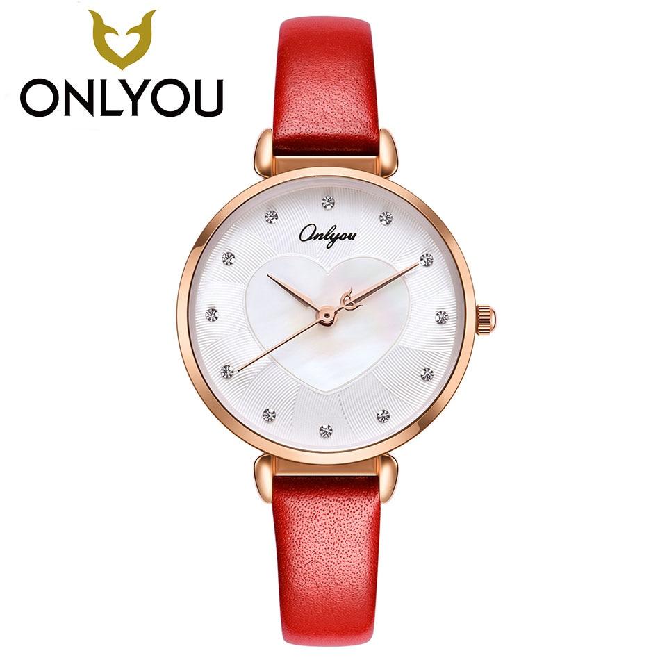 ONLYOU Women Watches Fashion Quartz Watch Rhinestone Leather Clock Dress Women Elegant Watch Diamond Quartz watch reloje mujer<br>