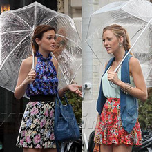 Hot Fashion Apollo Princess Gossip Girl Mushroom Vaulted Bubble Transparent Umbrella