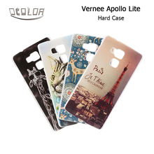 For Vernee Apollo Lite Colorful Plastic Case Back Cover With Drawings Printed in 3 Pattern for Vernee Apollo Lite Phone Case(China)