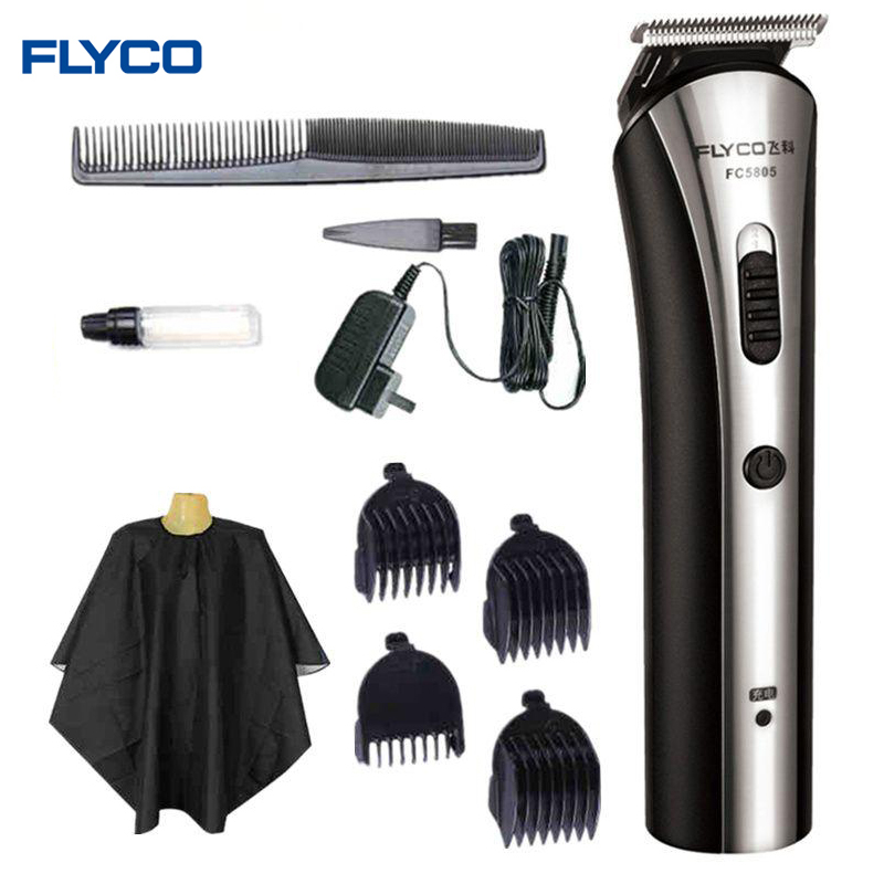 FLYCO NEW Rechargable Washable Electric Hair Clipper Worldwide Voltage(110-240V) Hair Trimmers with Adjustable combs FC5805<br>