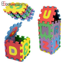 36pcs/set Mini Puzzles Digital Alphabet Letters A~Z Alphabetical & 0~9 Numerical Soft EVA Foam Mat Kids Learning Education Toy(China)