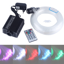 16W RGBW 28Key RF remote LED fiber optic star ceiling lighting kit 400pcs 4M 0.75mm+crystal(China)