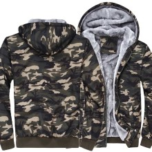 2017 new fashion sweatshirt men thick Army Ggreen Camouflage zipper hoodies swag tracksuit homme jacket crossfit fleece mma pp
