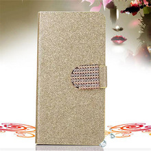 Bling Rhinestone PU Leather Case For Samsung Galaxy Mini S5570 Dart T499 Cover Original Flip Stand Wallet Phone Coque Card Slot