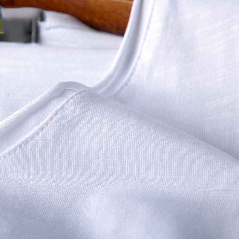 Bamboo cotton men's long sleeve t-shirt msn All Match O Neck Casual T-Shirts Base Tees spring autumn Korean bottoming shirt men (9)