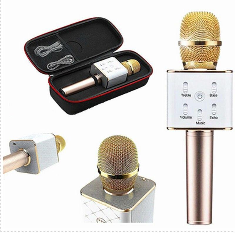 Q7 Mobile phone karaoke speaker treasure handheld KTV mobile phone Microphone Bluetooth wireless portable karaoke artifact<br><br>Aliexpress