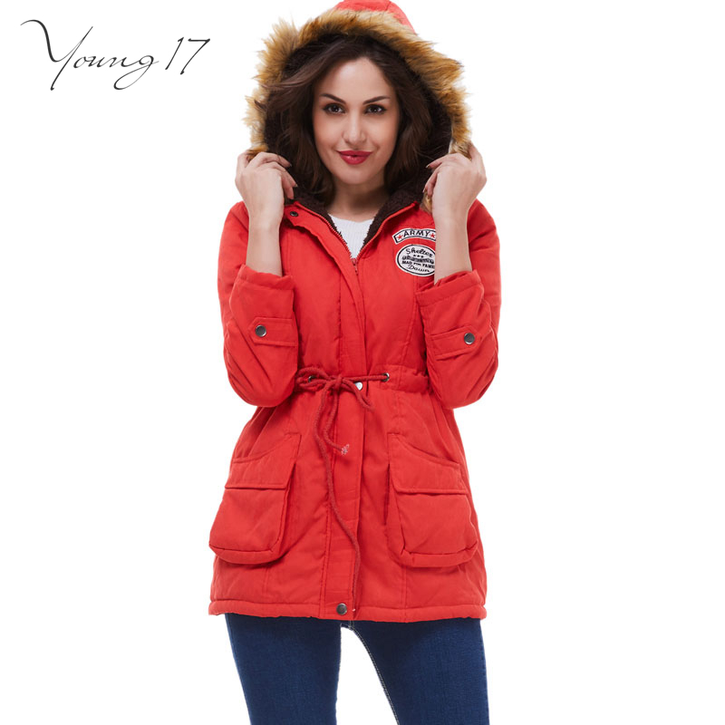 Young17 Thickening Long Winter Jacket Women Casual Faux fur Hooded Cotton-padded Slim Down &amp; Parkas coat Female jackets oversizeОдежда и ак�е��уары<br><br><br>Aliexpress