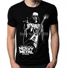 Star Wars I Find Your Lack Of Heavy Metal Flying V Guitar Cool T Shirt Mens Short Sleeve Printed Custom T Shirts Casual Tees