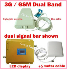 GSM 3G Repeater Dual Band GSM 900 2100 MHz W-CDMA UMTS Repetidor 3G Antenna Celular Signal Amplifier 2G 3G Cell Phone Booster(China)