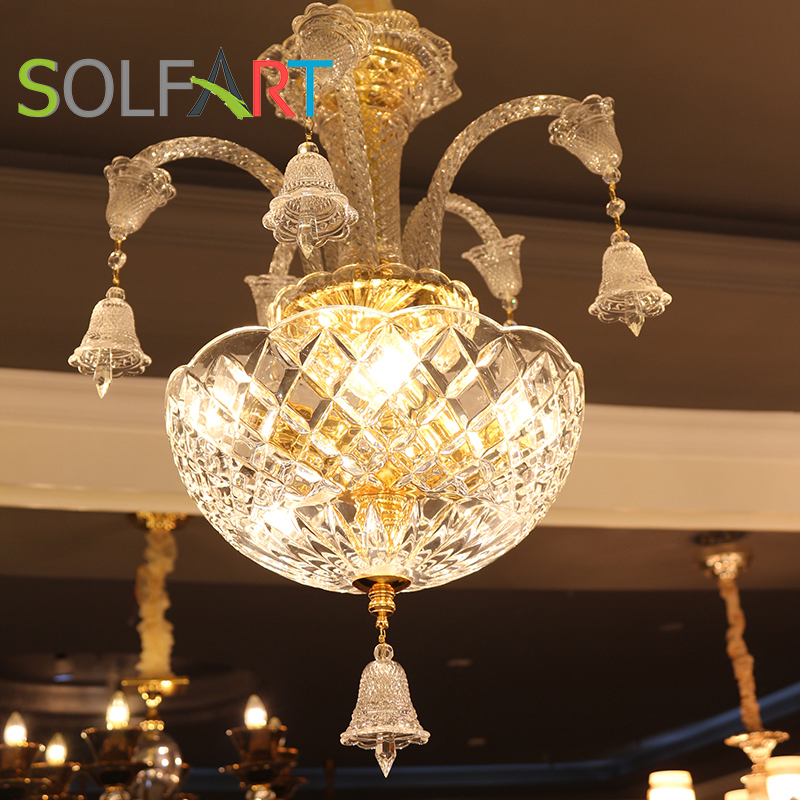 SOLFART chandelier crystal 90-260v pendants for chandeliers glass modern led crystal dinning bedroom Baccarat chandeliers b 101(China)