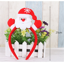 1Pcs Light Headband  For Home Party Christmas Tree Holders Room Store Shop Festival Santa Claus Toppers Decoration Kids Gift