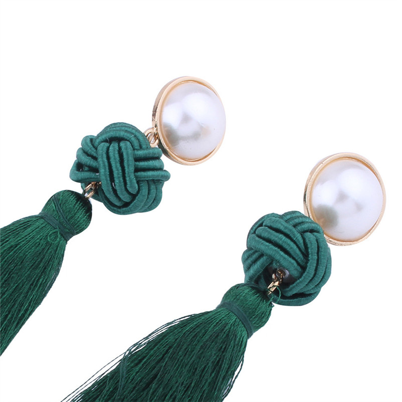 Trendry Earrings for Women Vintage Bohemian Fashion Weave Tassel Earrings Long Drop Earrings Jewelry for gift Brincos J05#N (12)
