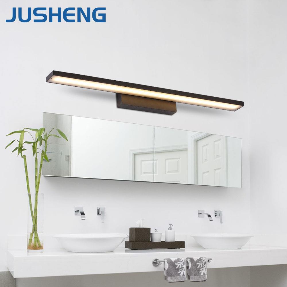 Modern High Quality Black LED Wall Light Aluminum LED Bar Light Over Mirror Lighting fixture in Bathroom 40/60/80/100cm long AC