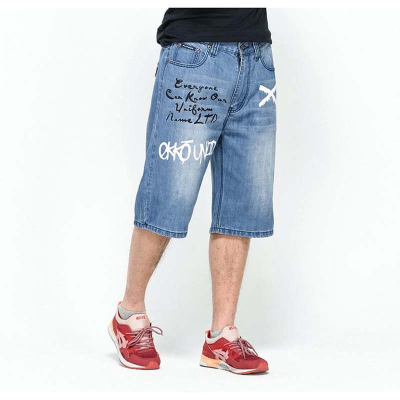 Summer Mens Hiphop Big Size Baggy pants Leisure Loose jeans 7 minutes pants New Fertilizer Increase Fat Hip Hop Man TrousersОдежда и ак�е��уары<br><br><br>Aliexpress