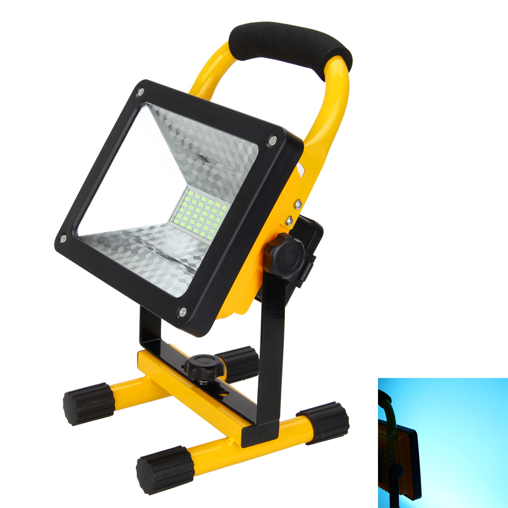 Cool Blue 50W 36LED Rechargeable Led Flood Spots Light Lamp Camping Flashlight Outdoor Light New<br>