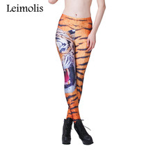 Buy Leimolis 3D printed fitness push workout leggings women gothic Roaring tiger plus size High Waist punk rock pants for $6.90 in AliExpress store