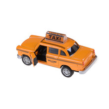 Hot 1:32 Taxi Alloy Car Model For Kids Toys Diecast Toy Car Hot Wheels Christmas Gift Flashing Musical Pull Back Taxi Alloy Car(China)