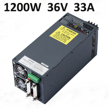 1200W 36V 33A power supply switching for industrial CCTV LED 36V manufacture outlet dc power supply 1200W(China)