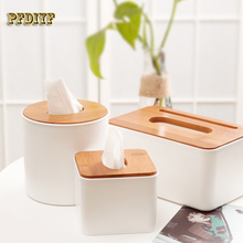 Simple And Innovative Napkin Paper Towels Extract Box Fine Wooden Cover Tissue Box Home Car With Plastic Pumping Tissue Holder