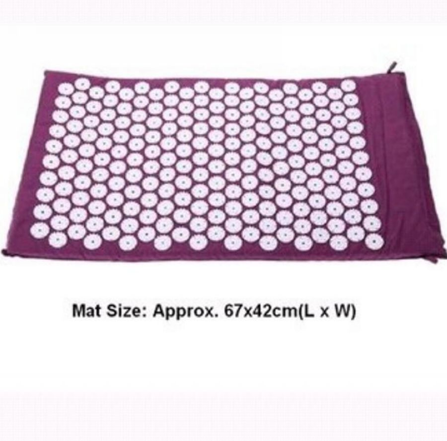 Massage cushion Acupressure Mat Relieve Stress Pain Acupuncture Spike Yoga Mat with Pillow Drop shipping<br>