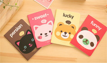 200pcs Magista School Material Escolar Kawaii Stationery Cartoons Animals Head Cover Notebook Pocket Exercise Book