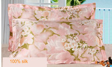 114073006silk double side  printed Silk Pillowcase size 74cm*48cm+3cm good quality  pillow cover