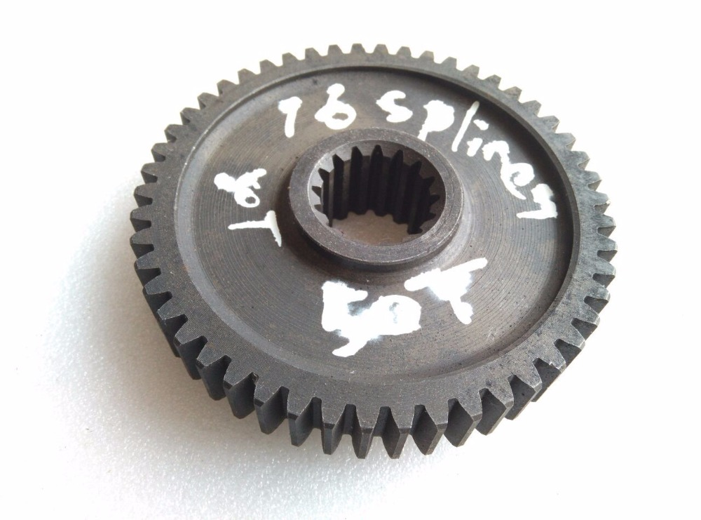 Shandong Weituo TY254 tractor parts, the 50T gear with 16 splines inside<br>