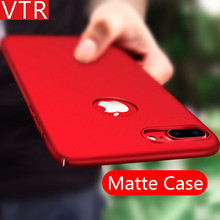 Luxury Red Phone Cases For iPhone 5 5s se 6 6s Plus case Matte Plastic Hard Black PC Full Protect Cover For iphone 7 Plus Cover(China)
