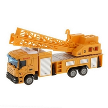 1:64 Diecast Telescopic Crane Lifter Truck Model Alloy Vehicle Cars Toys For Kids Children Hot Selling