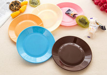 4Pcs/Set Creative Candy colors Tableware flat plate saucer seeds snack food-grade plastic dish