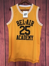 EJ Carlton Alfonso Banks #25 TV Show Fresh Prince Bel Air Basketball Jersey Stitched Yellow